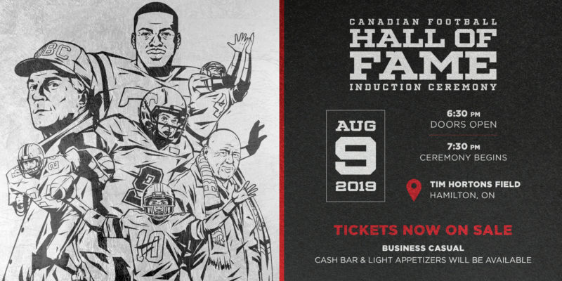 2019 CFHOF induction ceremony to take place August 9